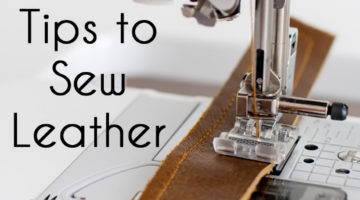 How to sew leather - tips and tricks for sewing leather - Melly Sews