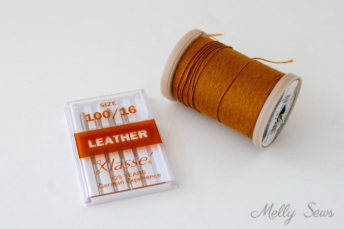 Leather needles and heavy duty thread - Melly Sews