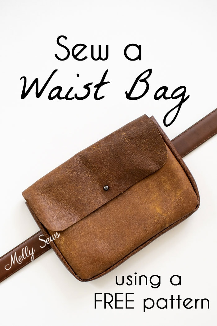 Sew a waist bag - DIY belt bag or fanny pack using a free pattern - Melly Sews