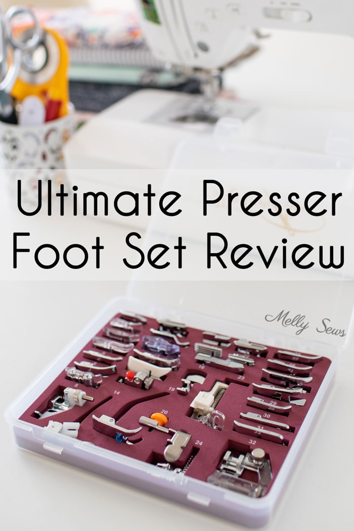 Ultimate Presser Foot Set Review - Box of 32 sewing presser feet by Madam Sew