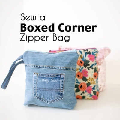 Sew a Flat Bottom Zip Bag – Boxed Corners