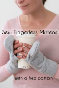Sew mittens from fleece, with a fingerless style that makes a perfect DIY gift for men, women or kids