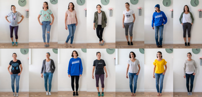 Two weeks worth of outfits I wore - casual work at home outfits, mom outfits and gym outfits