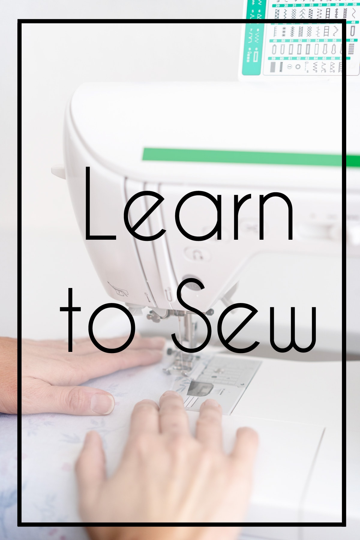 Learn to Sew at a Sewing Machine
