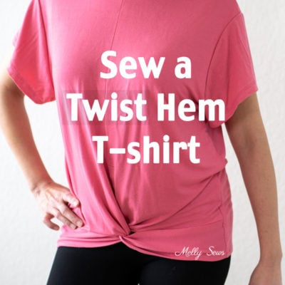 Make this DIY Twisted Hem Knot T-shirt with some pattern modifications and these video instructions