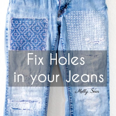 How to Fix Ripped Jeans – No Sewing Machine Required