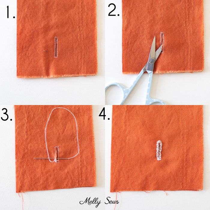 4 steps to hand sew a buttonhole