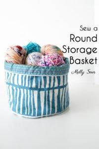Sew a Round Storage Basket - DIY Fabric Bin Tutorial