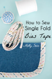 How to Sew Single Fold Bias Tape - a Beautiful Seam Finish