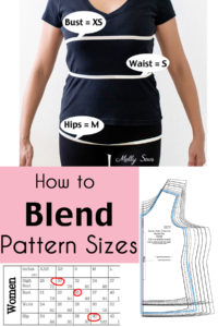 How to Blend Sizes on a Sewing Pattern - What to Do When You're not all one size
