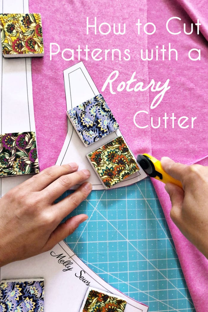 Cutting Sewing Patterns with a Rotary Cutter and Pattern Weights