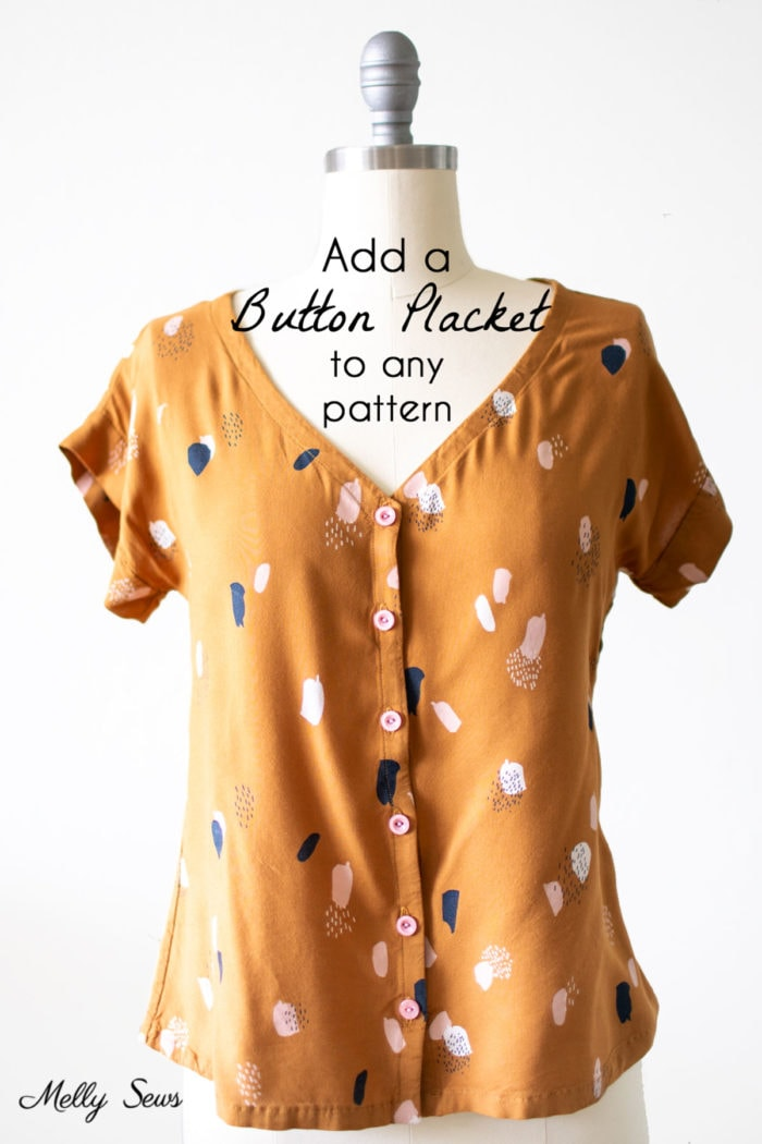 How to add buttons to a shirt - change a pullover shirt into a button up
