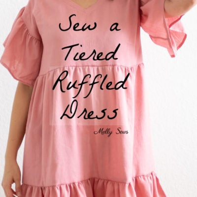 Womens Tiered Gathered Dress