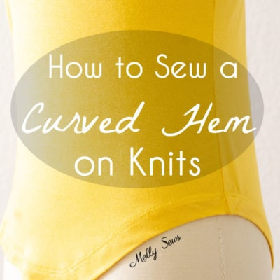 How to Sew a Curved Hem on Knits