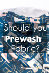 Should You Prewash Your Fabric? - Fabric in water to wash before sewing