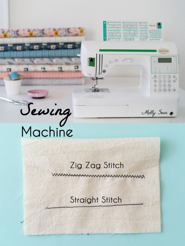 Sewing machine and example of stitches a sewing machine can do