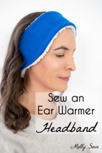DIY Ear Warmer Headband to Sew with a free pattern