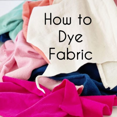 Hand Dyeing Fabric Tutorial