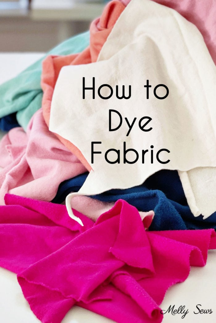 A  colorful pile of DIY dyed fabric - learn how to dye fabric at home with great results
