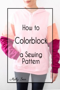 How to Colorblock a Sewing Pattern Hack