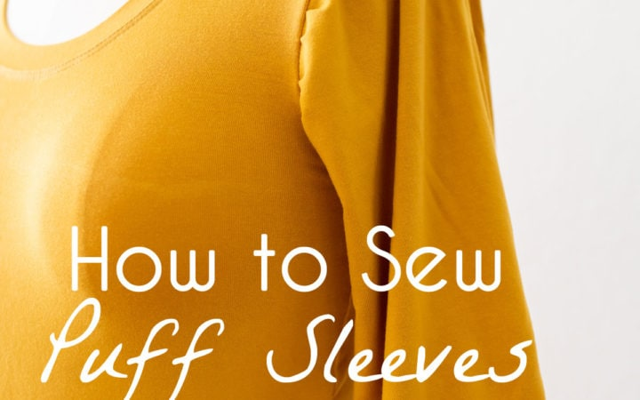 How to sew puff sleeves - pattern hack to make puff sleeves on a t-shirt