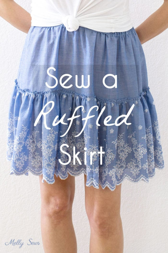 How to sew a ruffled skirt - make this DIY tiered skirt for beginners