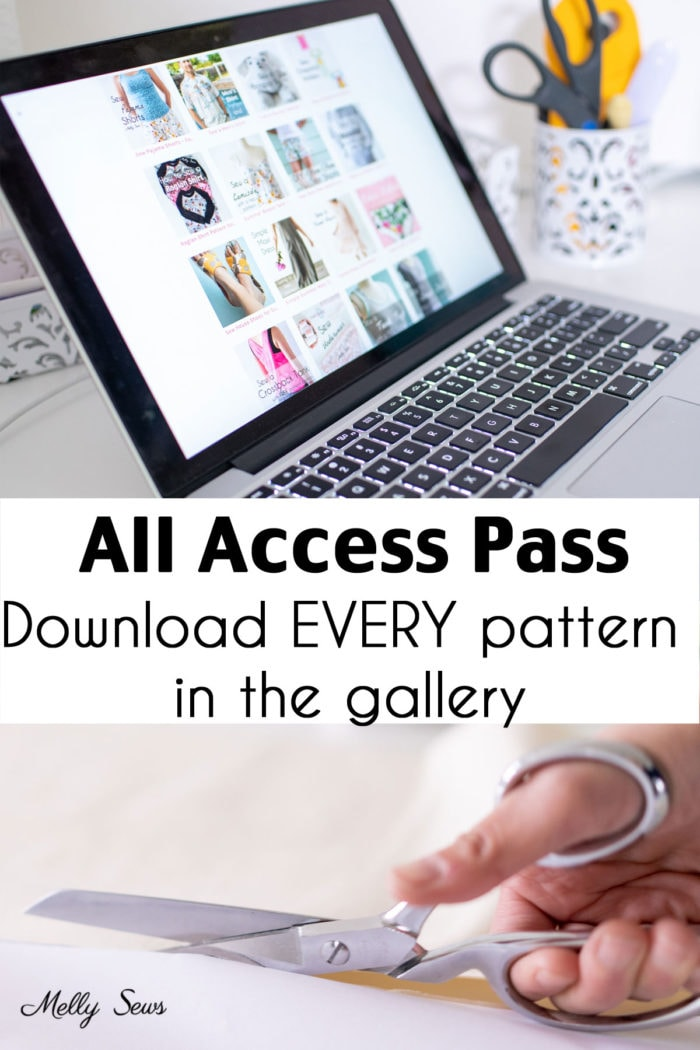 Sewing Pattern Gallery - Printable Pattern All Access Pass for Melly Sews Patterns