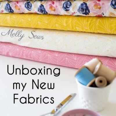New Designer Knit Fabric and Rayon Challis Fabric