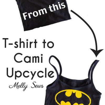 T-shirt Thrift Flip Tee to Tank Upcycle