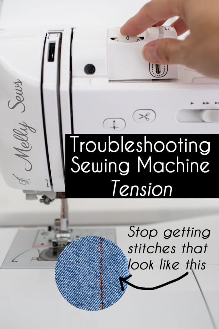 How to troubleshooting sewing machine tension if you're getting bad stitches