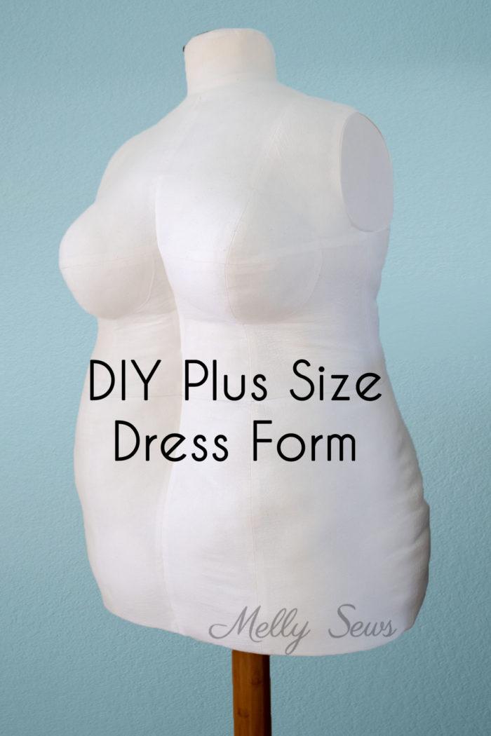 Custom measurement dress form in plus size