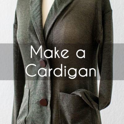 Make a Sweater by Sewing a DIY Grandpa Cardigan Tutorial