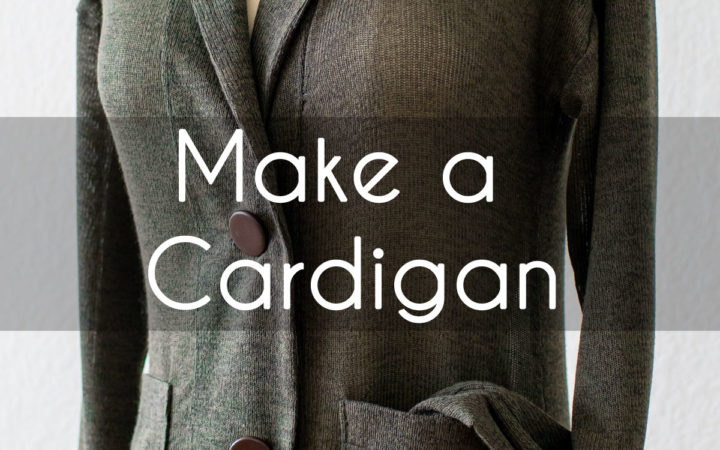 Make a Sweater - Sew a Cardigan like the olive shawl collard grandpa style one on this dress from with this DIY tutorial and pattern